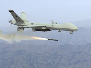 Reaper drone commonly used by CIA (along with Predator).