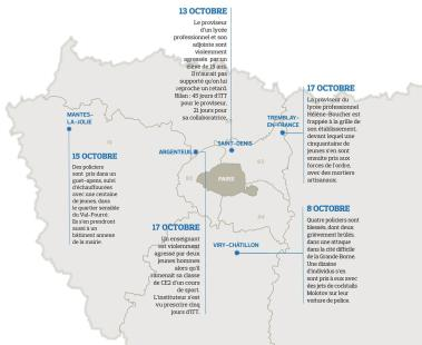 Some of the most recent aggressions in France. Source: http://bit.ly/2ei4m2w