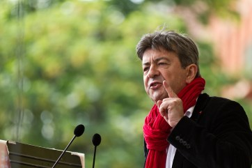 """Jean-Luc Mélenchon, leader of the extreme-left party that he founded in February 2016, """"La France Insoumise"""". Source: http://bit.ly/2frYcMS"""