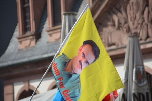 A flag of Abdullah Öcalan, founder of the PKK by opposition24.de https://flic.kr/p/FeKLu9