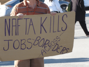 A NAFTA protest in 2012 (Image by Billie Greenwood)