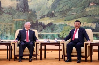 Rex Tillerson visits China