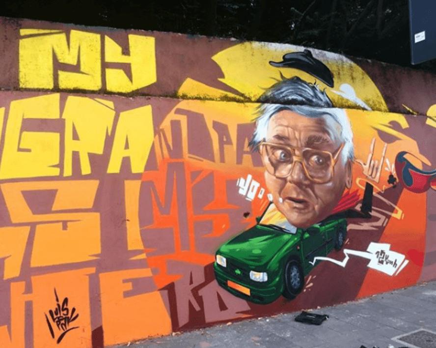 """Talijanski umjetnik zid ukrasio grafitom svog djeda: """"On je moj heroj!"""""""
