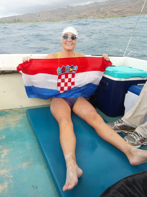 """Dina Levačić plivala za svoju nonu: """"Bako, uspila san. Sretan ti rođendan"""""""