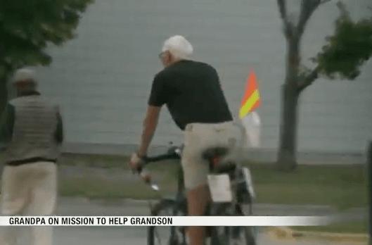 Djed biciklira od Pacifika do Atlantika kako bi prikupio novac za bolesnog unuka