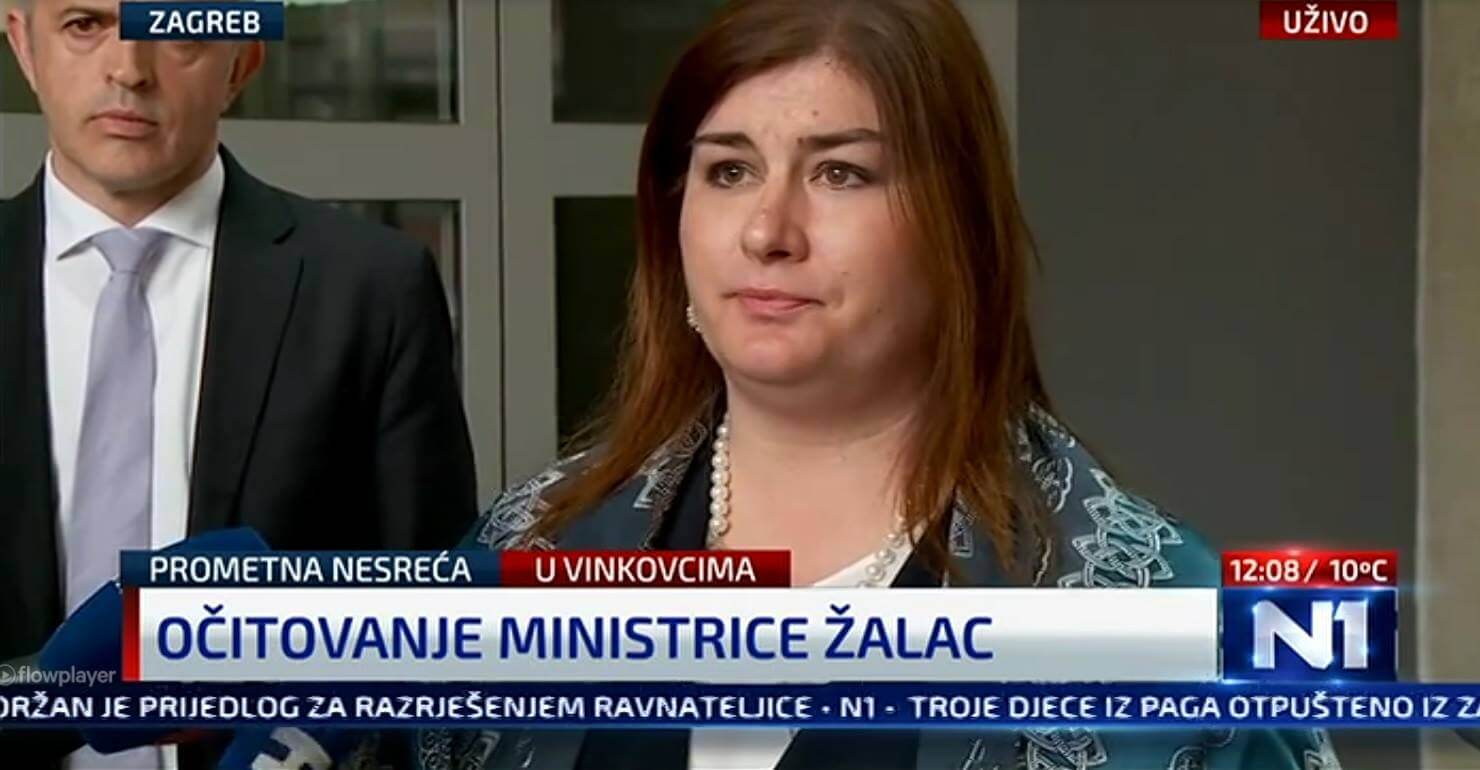 Gabrijela Žalac se oglasila o prometnoj nesreći, premijeru je ponudila ostavku još u subotu