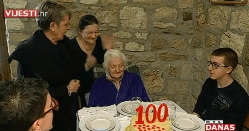 Dvije kćeri, četvero unučadi i šestero praunučadi: Pogledajte divnu proslavu rođendana 100-godišne Milenke