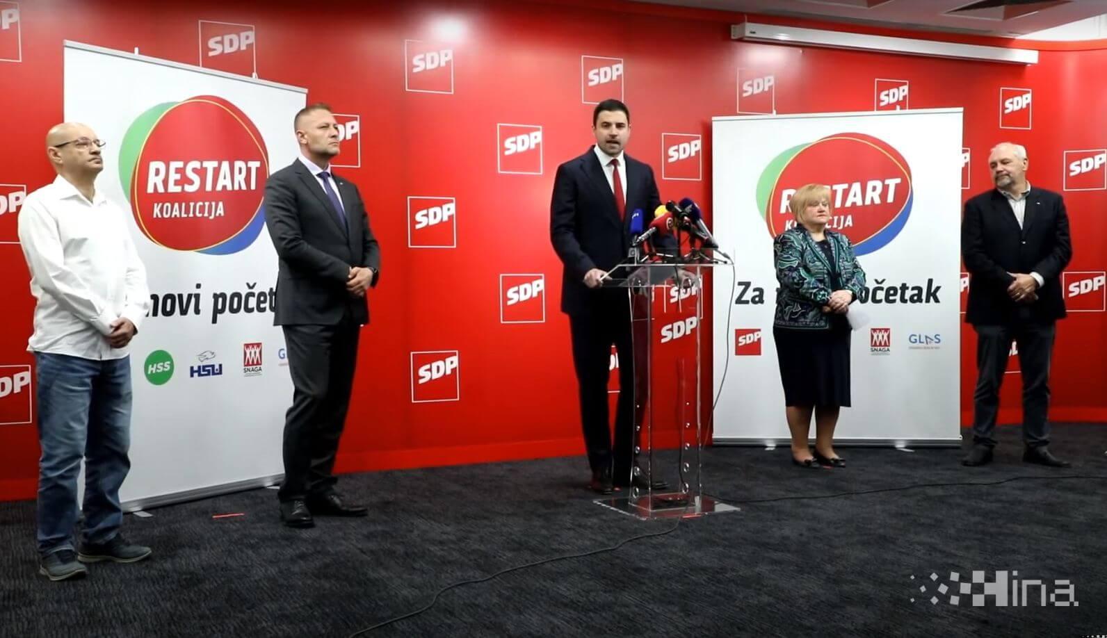 SDP predstavio koaliciju Restart: Reforma pravosuđa, moderno zdravstvo, pravični mirovinski sustav