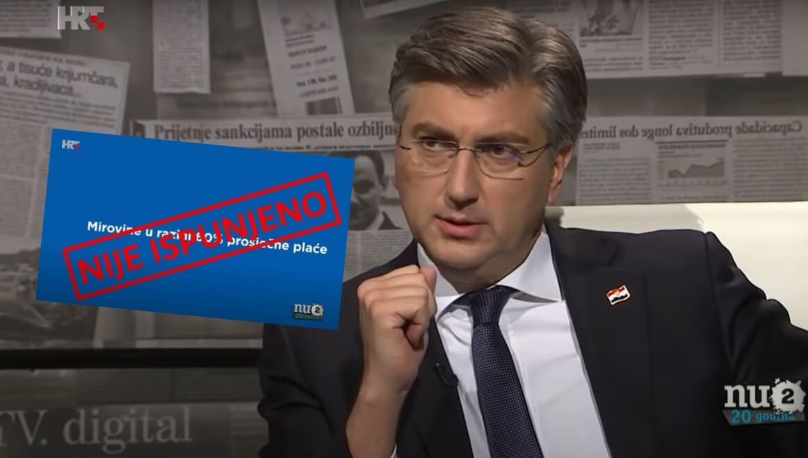 Plenković kod Stankovića odgovarao na neugodna pitanja o malim mirovinama