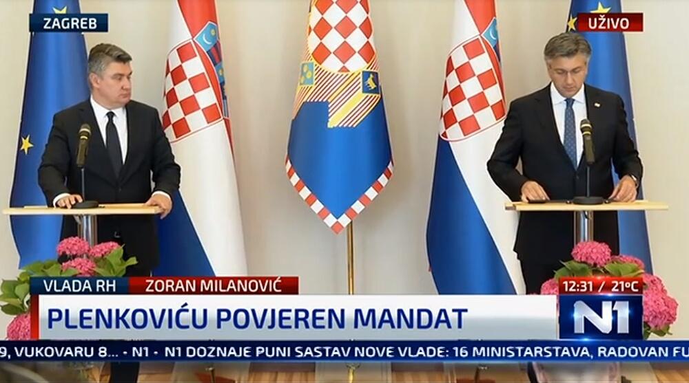 Milanović povjerio mandat Plenkoviću: Evo tko će biti ministri