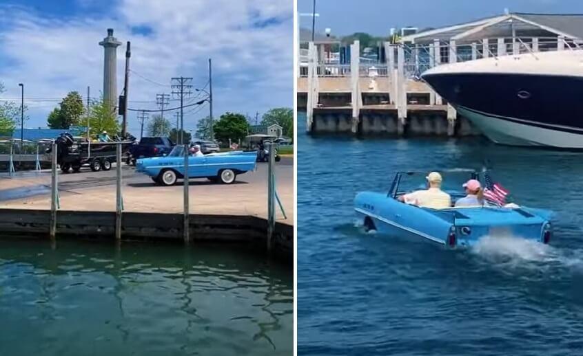 [VIDEO] Pogledajte kako se stariji par autom provozao po – oceanu!