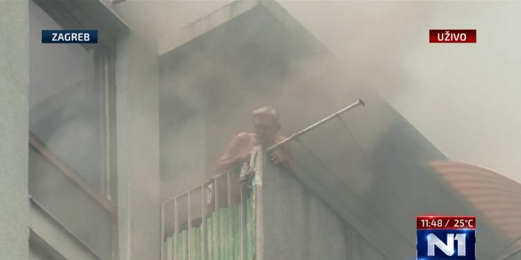 """Dragec (90) koji je u požaru zapeo na 12. katu: """"Pomislio sam čak i skočiti""""!"""