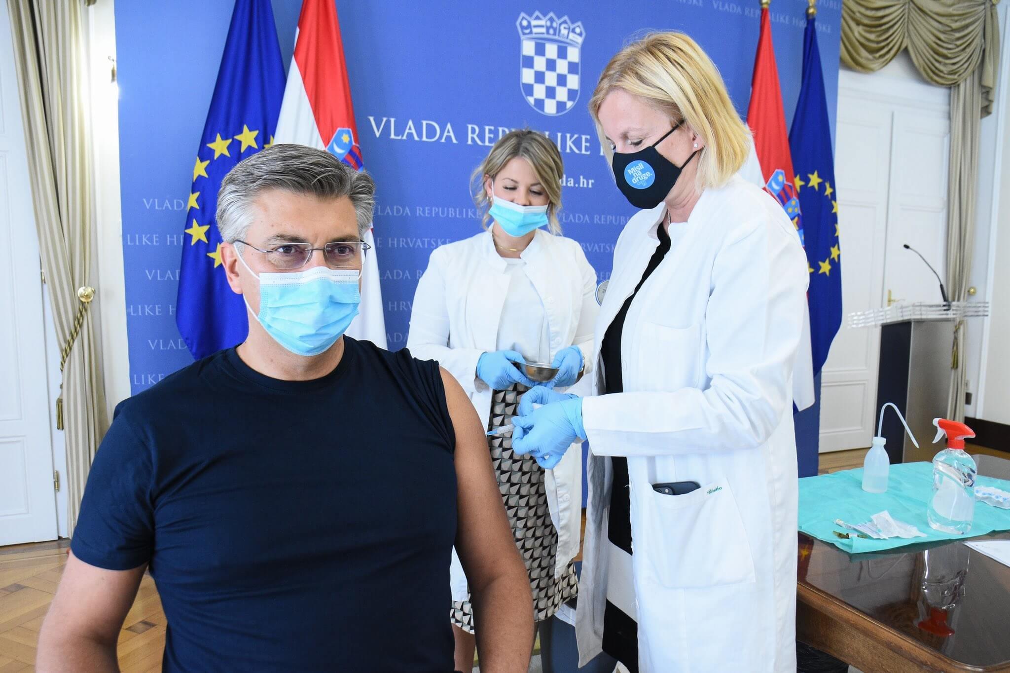 Plenković se danas cijepio drugom dozom AstraZenece: Evo što je poručio starijima