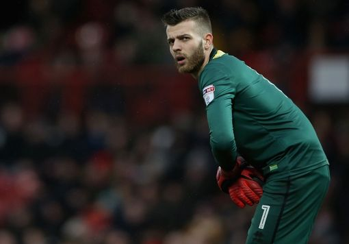 BRENTFORD, ENGLAND - JANUARY 27: Angus Gunn of Norwich City looks on during the Sky Bet Championship match between Brentford and Norwich City at Griffin Park on January 27, 2018 in Brentford, England. (Photo by Harry Murphy/Getty Images)