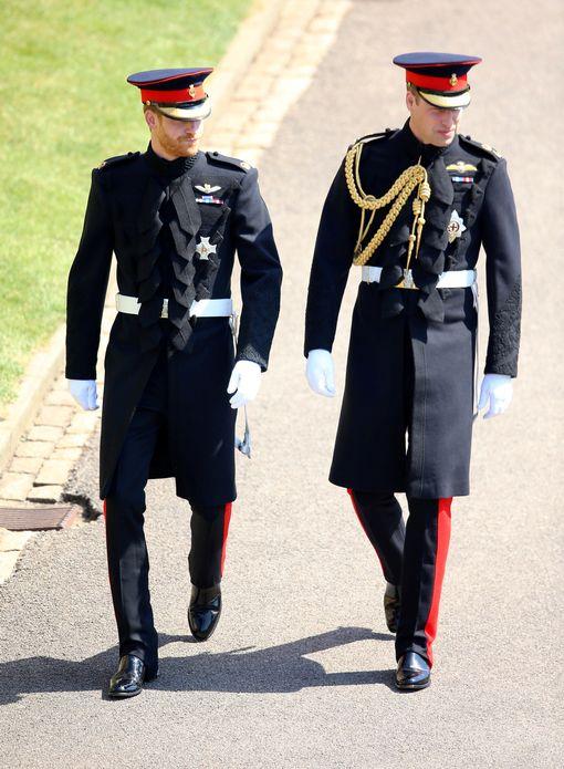 Prince Harry and Prince Willaim arrive