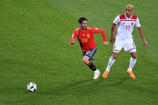Spain's midfielder Isco