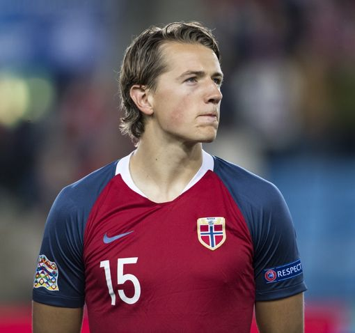 OSLO, NORWAY - SEPTEMBER 06: Sander Berge of Norway during the UEFA Nations League C group three match between Norway and Cyprus at Ullevaal Stadion on September 6, 2018 in Oslo, Norway. (Photo by Trond Tandberg/Getty Images)