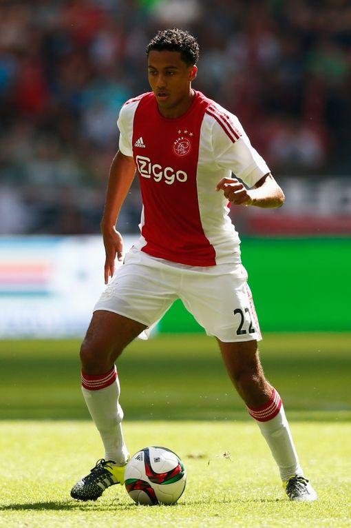 AMSTERDAM, NETHERLANDS - AUGUST 30: Jairo Riedewald of Ajax in action during the Dutch Eredivisie match between Ajax Amsterdam and ADO Den Hagg on August 30, 2015 in Amsterdam, Netherlands. (Photo by Dean Mouhtaropoulos/Getty Images)