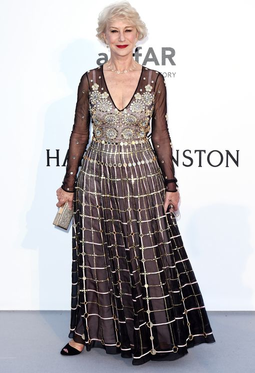 Helen Mirren at the amfAR's 23rd Cinema Against AIDS Gala in Cannes, France