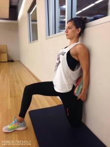 Kneeling Quad Wall Stretch