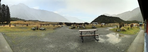 A typical DOC camper van site, Mount Cook, South Island