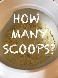 How Many Scoops of Protein?
