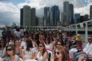 Focus guests cruise the Chicago River for an architectural tour of the city.