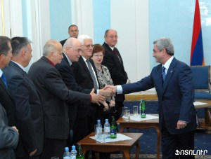 President Serge Sargisian met with the visiting members of the ADL and Armenagan Ramgavar party in Yerevan.