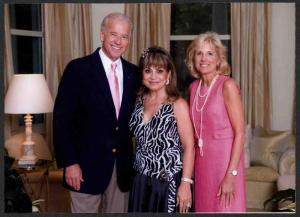 From left, Vice President Biden, Annie Totah and Dr. Jill Biden