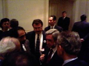 ADL's Vartan Ilandijan, center, with President Serge Sargisian