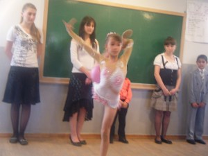 Students at Vahan Tekeyan School in Gumri performed for the guests.