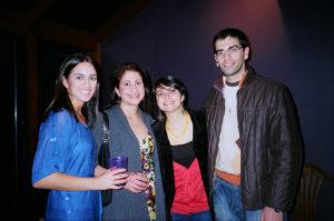 From left, Alicia Demirjian, Alyssa Yenikomshian, Natalie and Aram Shemmassian