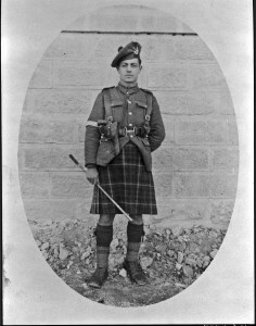 Ardashess Hamp, aka Hampartzoumian and Hampar, British Army officer, Seafroth Highlanders regiment, somewhere in Anatolia of the Ottoman Empire, 1919. Project SAVE Archives photo, courtesy of Ardashess Hampar, New York City