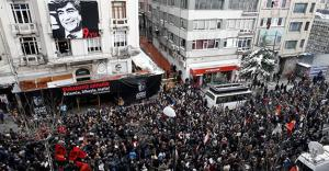 Protest in Istanbul marking the ninth anniversary of Dink's assassination