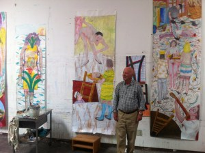 Garabedian in his studio, August 24, 2012.