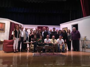 "Members of the AGBU Satamian Theater Group with the executive of the TCA Mher Megerdichian Theatrical Group after the recent performance of ""Funny Money"" in New Jersey."