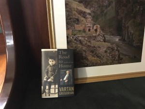 A signed copy of The Road from Home by Vartan Gregorian