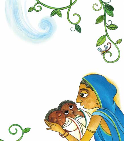 Illustration by Proiti Roy from 'Bon Bibi's Forest', written by Sandhya Rao (Tulika Books)