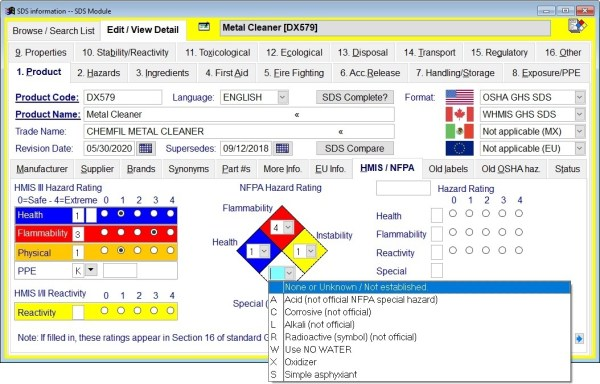 MIRS: (M)SDS Software - Sample screens