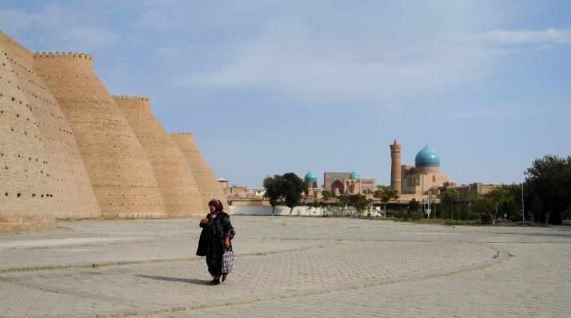 PA073743  Uzbequistan, Bukhara, Central Asia, silk road, ruta seda, ark wall, muralla ark