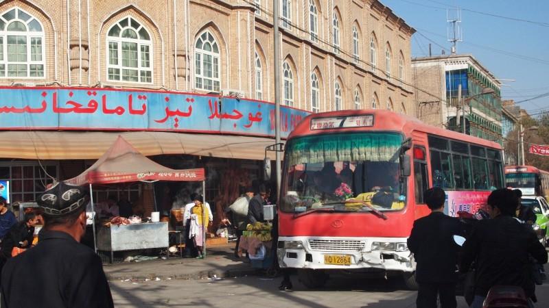 PB085145  Kashgar, Xinjiang, silk road, ruta seda, oasis, Uygur
