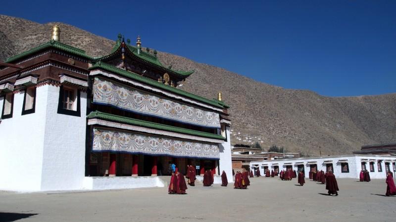PB216015 Labrang, Xiahe, Buddish, monasterio, monastery, Tibet, China