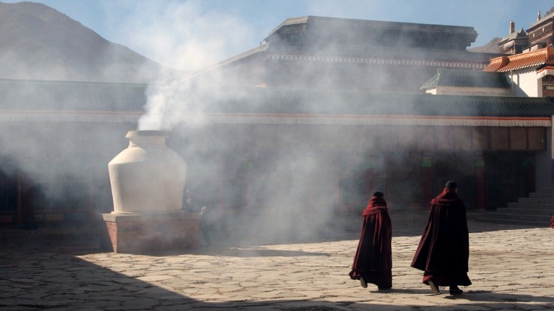 PB216033 Labrang, Xiahe, Buddish, monasterio, monastery, Tibet, China