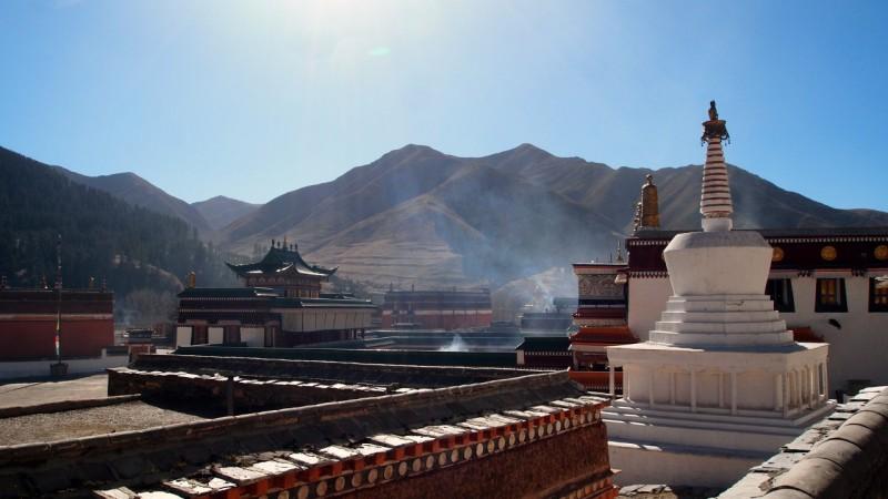 PB216113 Labrang, Xiahe, Buddish, monasterio, monastery, Tibet, China
