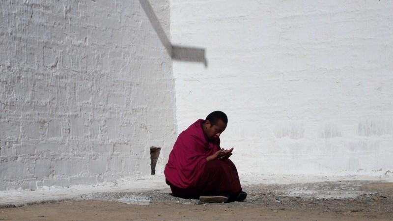 PB216135 Labrang, Xiahe, Buddish, monasterio, monastery, Tibet, China