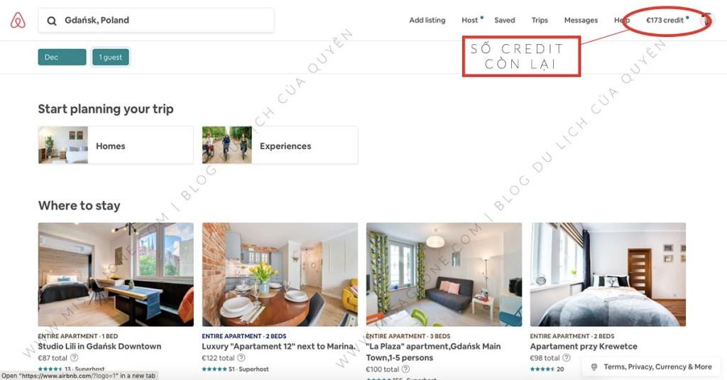 Dùng credit để book phòng Airbnb miễn phí _03