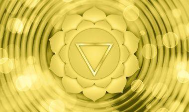 Illustration du chakra du plexus solaire