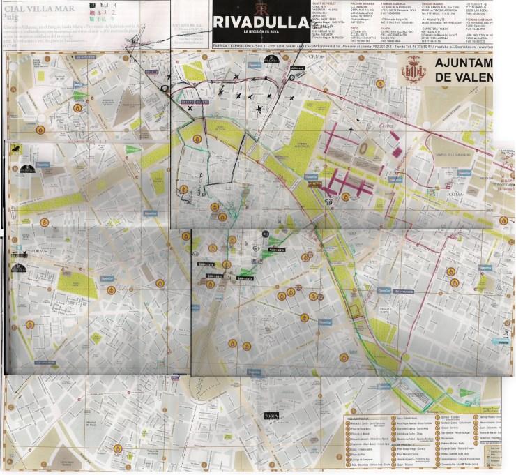 Mappa Valencia