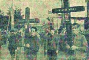 Crucile verzi spre cimitirul legionar dela Predeal
