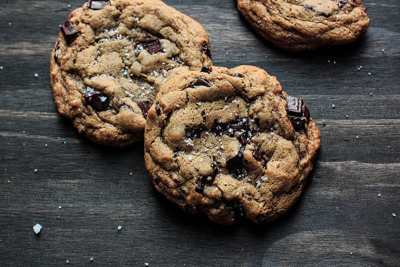 Salted Chocolate Chunk Cookies by Lisa Clark